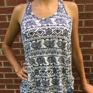 Rue 21 Black and White Tank Top